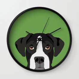 Boxer pet portrait cute dog lover rescue dog lover Boxers portrait dog breeds Wall Clock