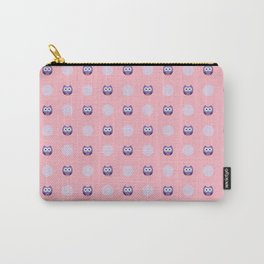 Adorable Purple Owls Carry-All Pouch