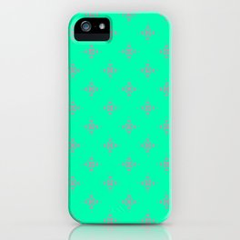 Ornamental Pattern with Mint and Grey Colourway iPhone Case
