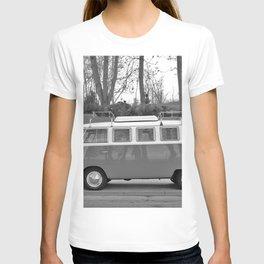 Retro Van (Black and White) T-shirt