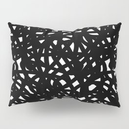 B&W Freeform Pillow Sham
