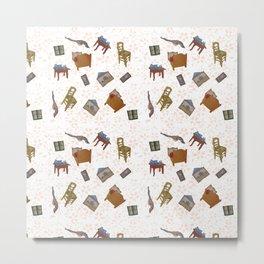 van gogh room pattern Metal Print