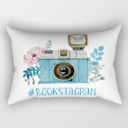 Blue Bookstagram Rectangular Pillow