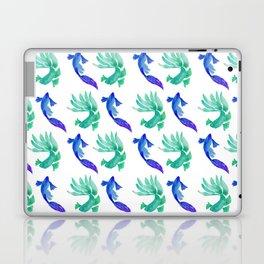 Tropical Fish Pattern (blue and sea foam green palette) Laptop & iPad Skin