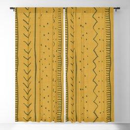 Moroccan Stripe in Mustard Yellow Blackout Curtain