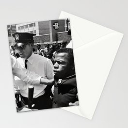 John Lewis being arrested by police during civil rights protest Stationery Cards