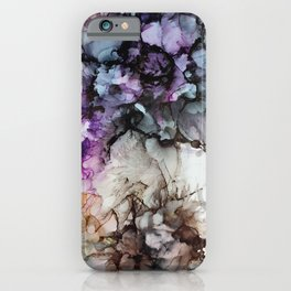 Painting ink Modern art contemporary art flowers nature multicolored iPhone Case