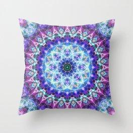 Sacred Lotus Mandala Throw Pillow