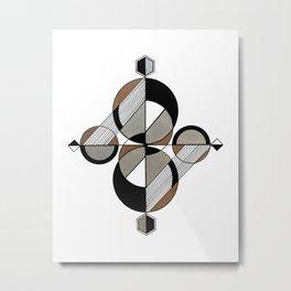 Eunoia - Gold & Silver 03 Metal Print