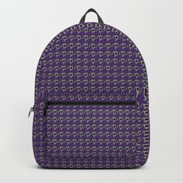 Luv Machine Robot Houndstooth Print Backpack