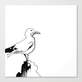 Surly Seagull Canvas Print