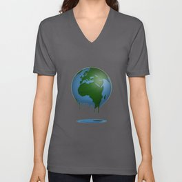 Melting Earth Nature Reserve environmental Protection Unisex V-Neck