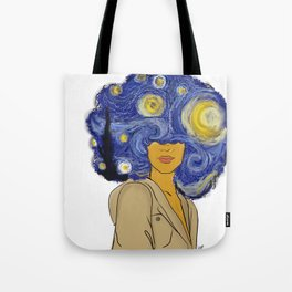 Starry fro nights Tote Bag
