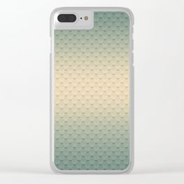 Gray-olive, gradient Clear iPhone Case