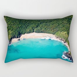 Turquoise Beach Rectangular Pillow