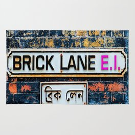 London Brick Lane Sign Rug