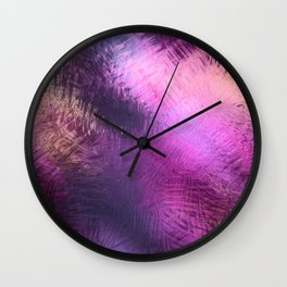 Glazed in Pink Wall Clock