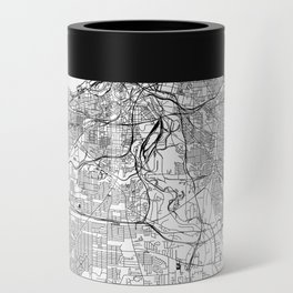 Cleveland White Map Can Cooler