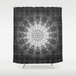 Gothic Lace Mandala Shower Curtain