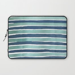 Aqua Teal Stripe Laptop Sleeve