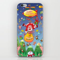 Santa has a Zeppelin to Deliver Christmas Gifts iPhone & iPod Skin