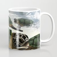 turtles Mugs featuring Turtles by nicky2342
