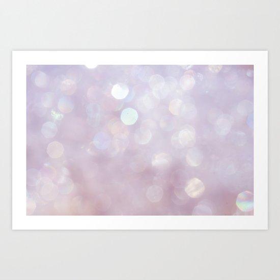 Bokeh Series - English Lavender Art Print