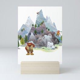 Bear troop Mini Art Print