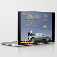 delorean Laptop & iPad Skins featuring Delorean Song by thewhitewolf90