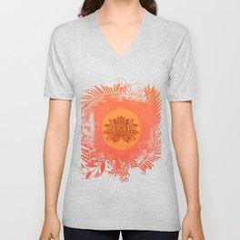 Lotus Flower of Life Meditation  Art Unisex V-Neck