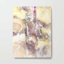 Softness - Abstract Natural Ink Watercolour Metal Print