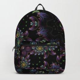 FRACTAL KALEIDOSCOPE YELLOW FLOWER 2 Backpack