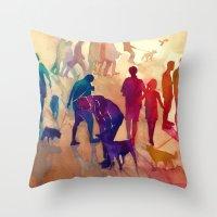 best friends Throw Pillows featuring Best friends by takmaj