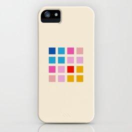 Retro Squares 01 iPhone Case