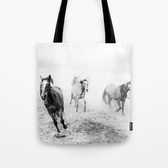 Running with the horses Tote Bag