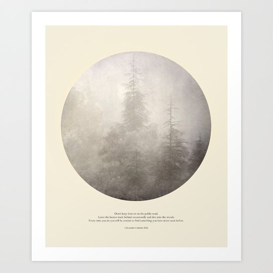 love the woods Art Print