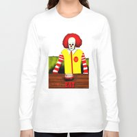 eat Long Sleeve T-shirts featuring EAT by Dano77