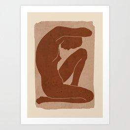 Abstract Nude Art Art Print