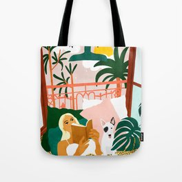 It doesn't matter where you're going, it's who you have beside you #painting #illustration Tote Bag