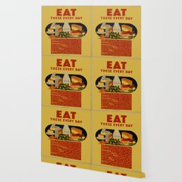 Vintage poster - Eat These Every Day Wallpaper
