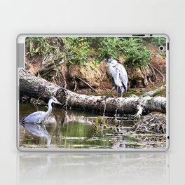 Three Herons in water at Wollaton Hall Laptop & iPad Skin