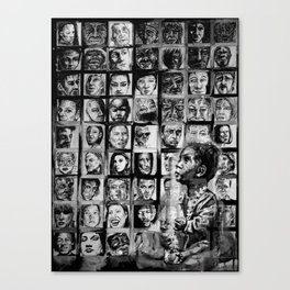 FACE IT - lullaby child - bw Canvas Print