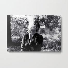 The Girl - Smoking Metal Print