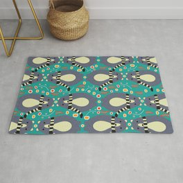 Little bears and flowers Rug