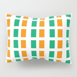 flag of ivory coast 2-africa,ivorian,ivoirien,cote d'ivoire,ivorien,abidjan,yamoussokro Pillow Sham