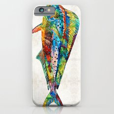 Colorful Dolphin Fish by Sharon Cummings iPhone 6 Slim Case