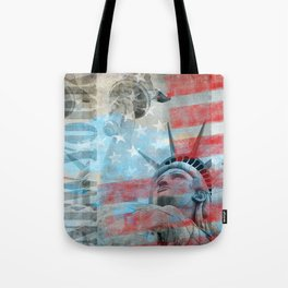 Lady Liberty Stars and Stripes Patriotic Artwork Tote Bag