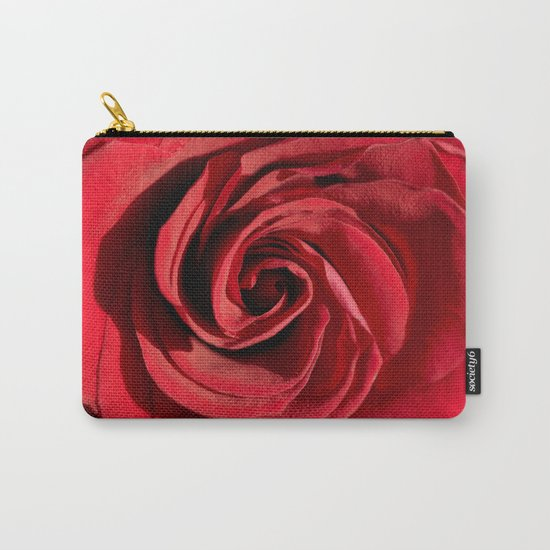 Red rose in LOVE- Roses Flowers Floral Carry-All Pouch