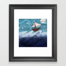A Whale of a Night Framed Art Print