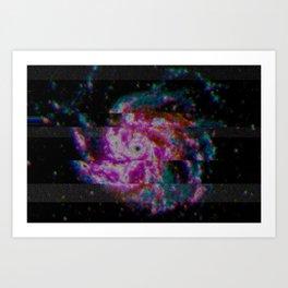 Glitch Galaxy - Spiral Galaxy M101 Art Print